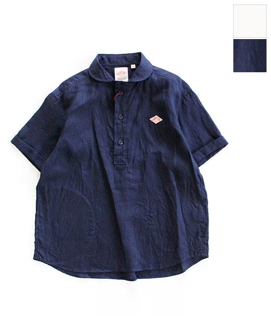 [DANTON]ダントン LINEN CLOTH 半袖プルオーバーシャツ(レディース・メンズ) JD-3565 KLS JD-3569 KLS