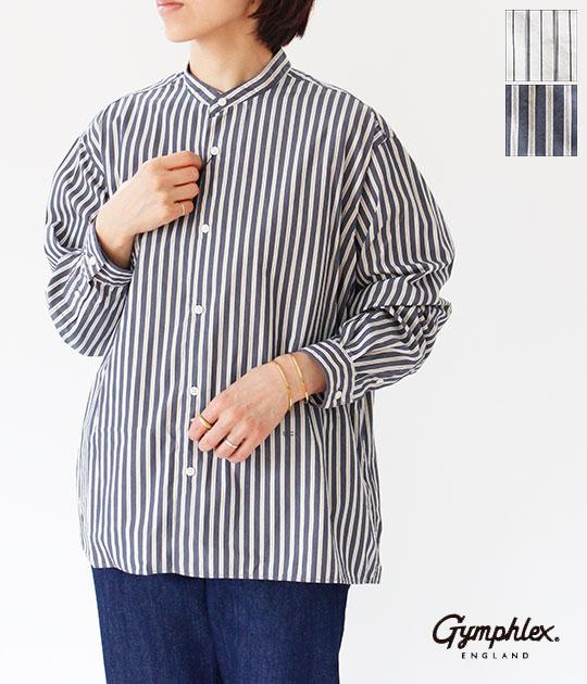[Gymphlex]ジムフレックス MULTI STRIPE バンドカラーシャツ J-1470 MUP