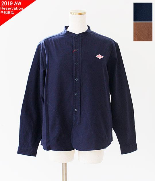 [DANTON]ダントン 先染ビエラ起毛バンドカラー長袖シャツ(レディース・メンズ) JD-3606 VSS JD-3607 VSS