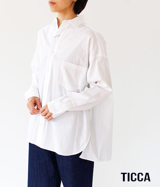 [TICCA]ティッカ スクエアビッグシャツ TBKA-141
