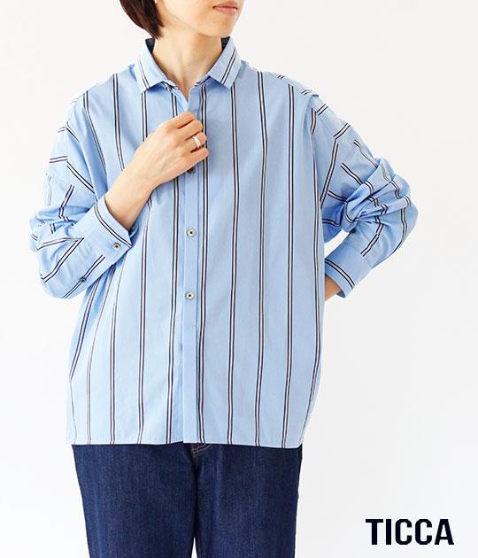 [TICCA]ティッカ ショートボックスシャツ TBKS-173