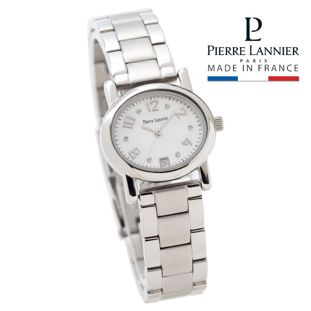 ピエールラニエ オーバル型チェンジャブルウォッチ シルバー レディース腕時計ブランド 楕円形 ステンレスメタルベルト キラキラ シェル 白蝶貝 送料無料防水 単品P849601M