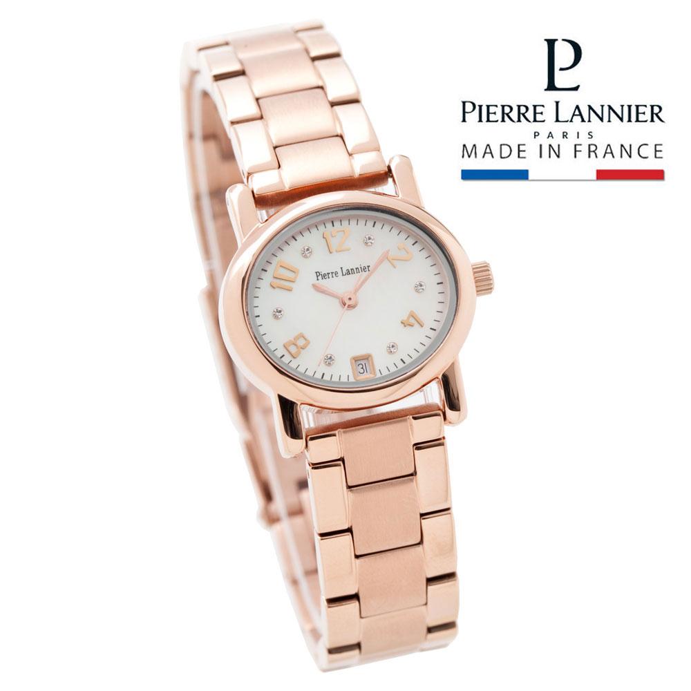 ピエールラニエ オーバル型 チェンジャブルウォッチ ピンクゴールド レディース腕時計 楕円形 メタルベルト シェル 防水 単品 P849902M 誕生日 プレゼント ご褒美 ギフト 記念日