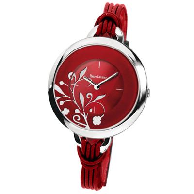 腕時計 レディース ピエールラニエ ブランド フラワー柄カラフルBIGストリングウォッチ ストリングベルト 丸型 P068H 入学祝