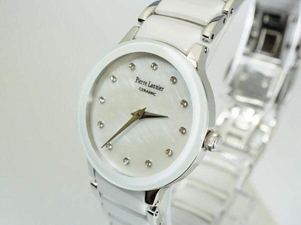 online retailer 4f7d3 82258 ピエールラニエ セラミックウォッチ レディース 腕時計 セラミック ジルコニアストーンつき 丸型 防水p008d939  p008d990|フランス時計ピエールラニエ公式