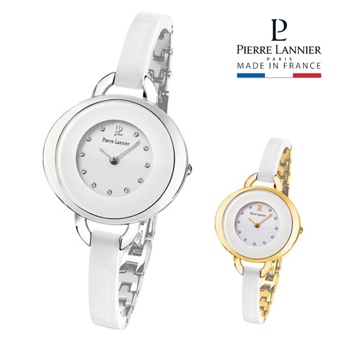 ピエールラニエ レディセラミックウォッチ シルバー ゴールド レディース腕時計 バングル型 セラミック 楕円型 防水p082h600 p083h500