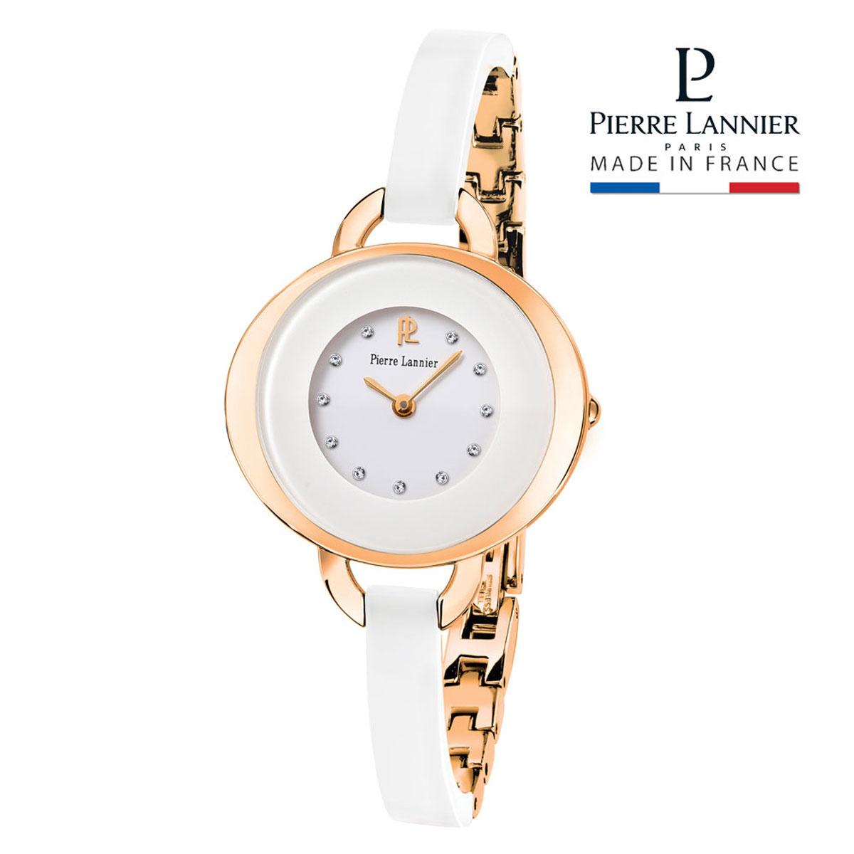 ピエールラニエ レディセラミックウォッチ ピンクゴールド レディース 腕時計 バングル型 セラミック 楕円型 防水P090F900