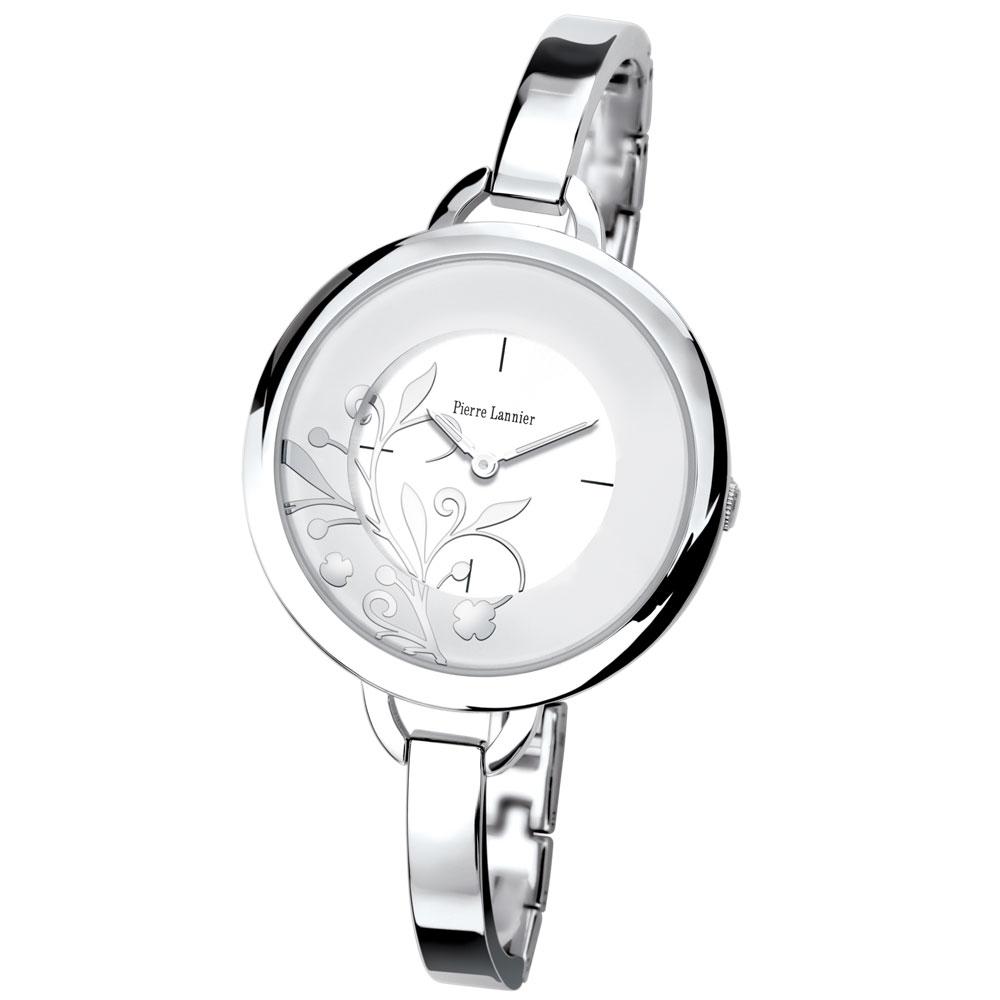 ピエールラニエ バングルウォッチP153Jモデル シルバー レディース腕時計 ホワイト 丸型 防水P153J601