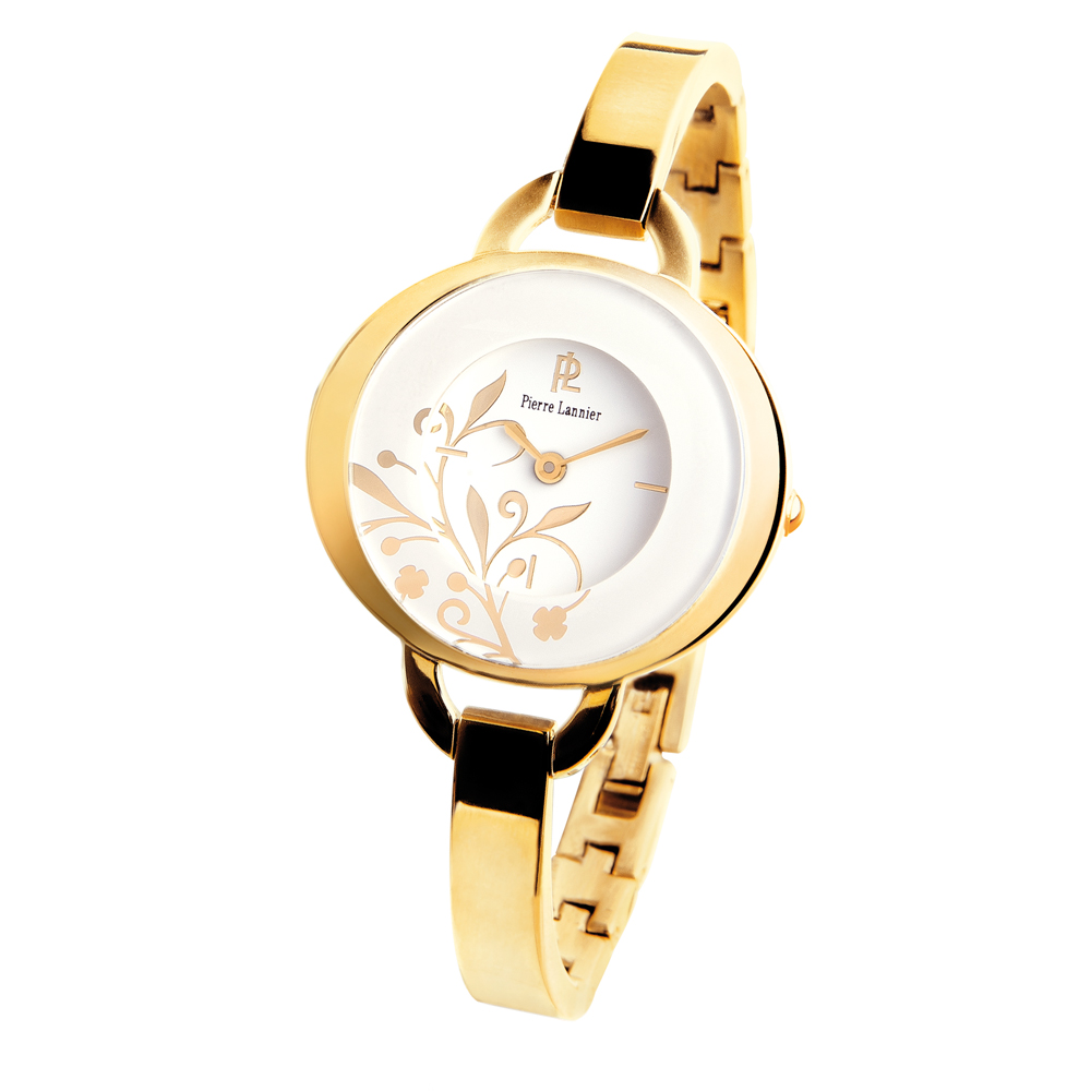 ピエールラニエ バングルウォッチ レディース腕時計 ゴールド 楕円型 防水p186c501