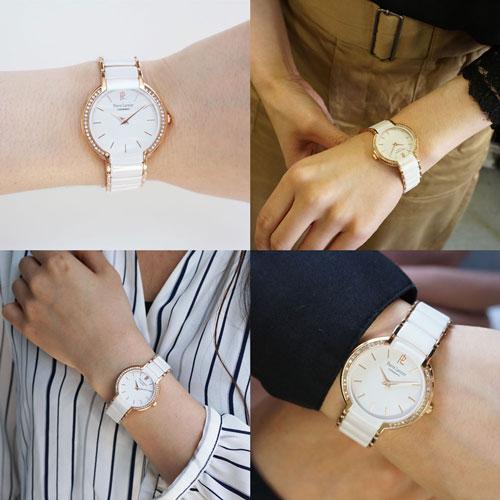 ピエールラニエ セラミックウォッチP021Hモデル レディース腕時計 セラミック ピンクゴールド キラキラ 丸型 防水p021h900