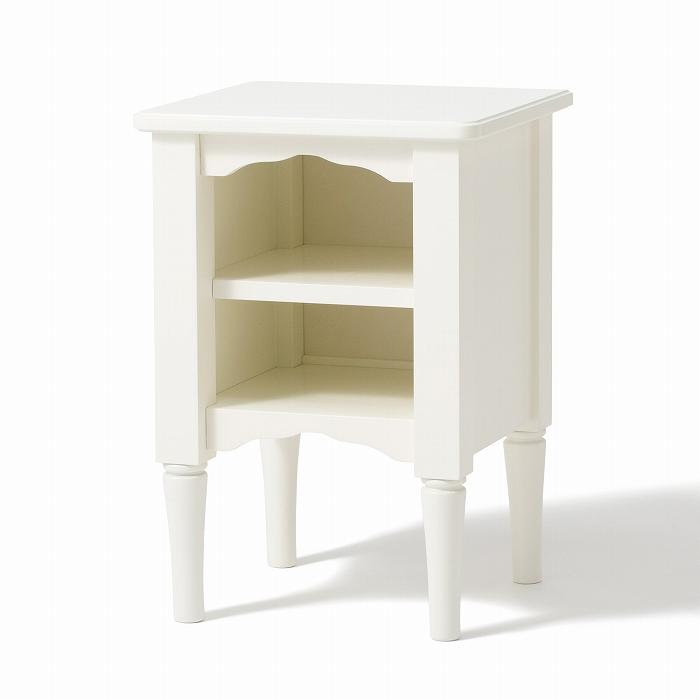 Francfranc フランフラン ベッドルーム収納 ナイトテーブル ミーオ ナイトテーブル (ホワイト)【W350×H500】 送料込価格