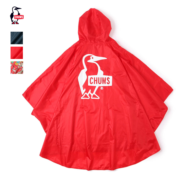 2020春夏 ネコポス配送商品 プレゼント 20%OFF CHUMS チャムス Booby 期間限定送料無料 Logo CH14-1211 Rain CH04-1211 ブービーロゴレインポンチョ ユニセックス Poncho