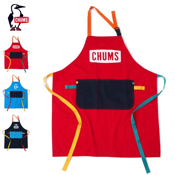 2021秋冬 CHUMS お求めやすく価格改定 チャムス Logo Apron エプロン クッキング CH09-1195 休み ロゴエプロン