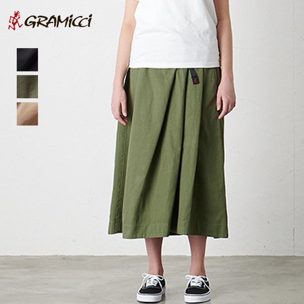 (15%OFFクーポン対象) GRAMICCI グラミチ / TALECUT SKIRT テールカットスカート (GLSK-20S002) (2020春夏)