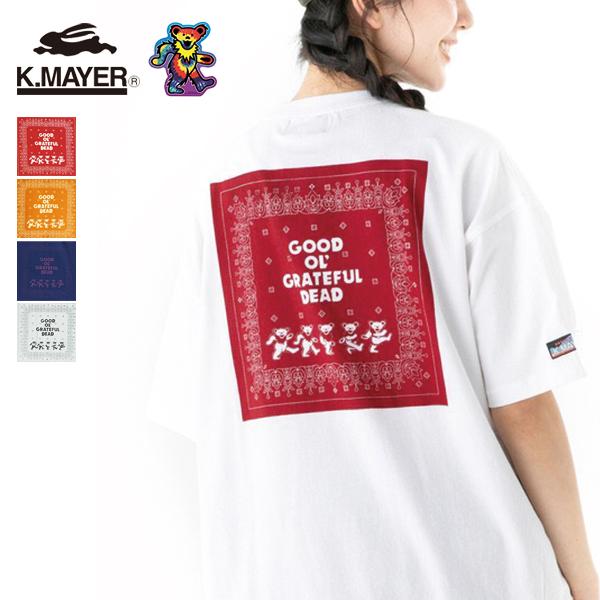 30%OFF 2021春夏 KRIFF AL完売しました。 MAYER 即納最大半額 クリフメイヤー Grateful 2047213L レディース Dead半袖T ネコポス対応商品 Tシャツ バンダナ