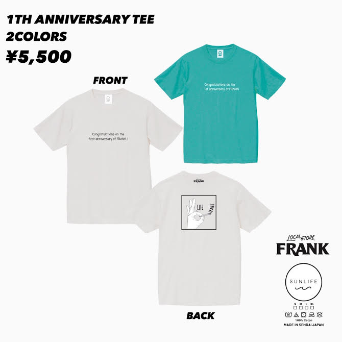 SUNLIFE×FRANK 1th anniversary tee