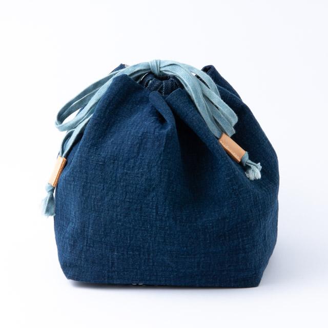 COTTLE 巾着バッグ02 本藍染め壱等雲斎 倉敷児島産 巾着袋 ポーチ