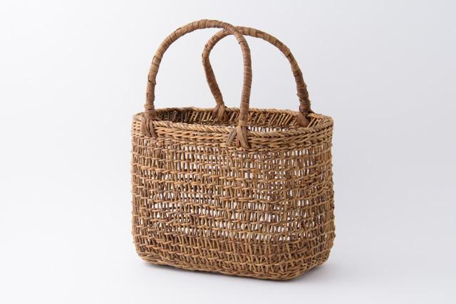 あけび かごバッグ 純国産 日本製 こだし編み 手提げ 小 山葡萄との相性◎ ピクニック用にも