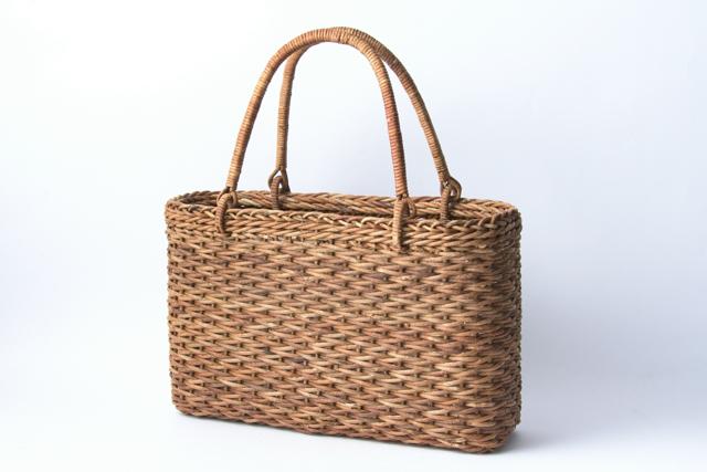 あけび かごバッグ 松葉編み 国産 日本製 籠バッグ