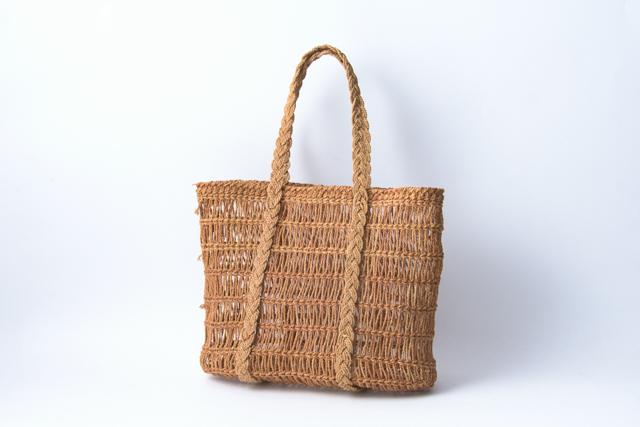 シナ縄編み 手提げバッグ02
