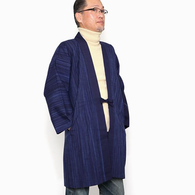 宮田織物 羽織 haori 雪解 紺 ジャケット メンズ レディース 着物 カジュアル 普段着 男性 女性