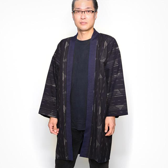 宮田織物 羽織 haori 帆風 グレー ジャケット メンズ レディース 着物 カジュアル 普段着 男性 女性