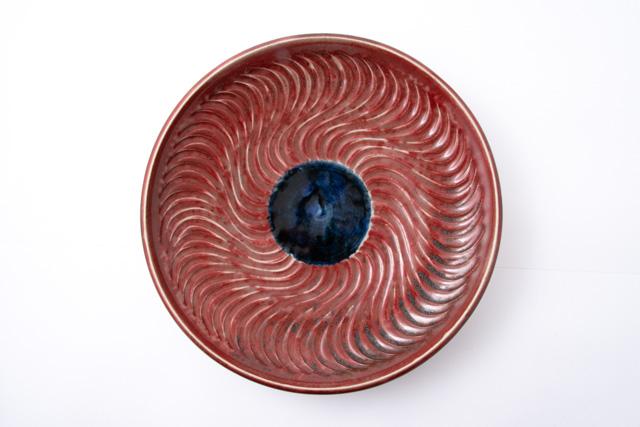 志和地窯 佐藤俊郎 辰砂尺二寸皿 陶器 作家物 うつわ 器 食器