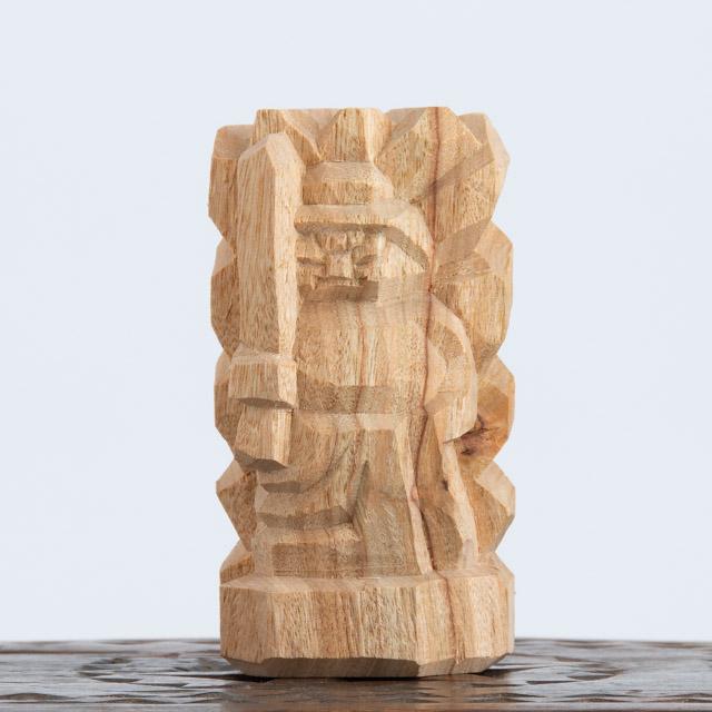 上等 昭雲工房 岡山 叩き彫 不動明王 11.5cm 山田尚公作 手彫り 大注目 木彫 木像 16842 仏像