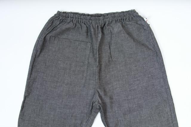 うなぎの寝床 もんぺ 久留米絣 無地 薄手 グレイ 3サイズ メンズ レディース 日本製 パンツ お洒落 おしゃれ