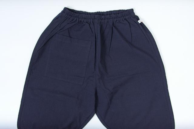 うなぎの寝床 もんぺ 久留米絣 無地 薄手 ネイビー 3サイズ メンズ レディース 日本製 パンツ お洒落 おしゃれ