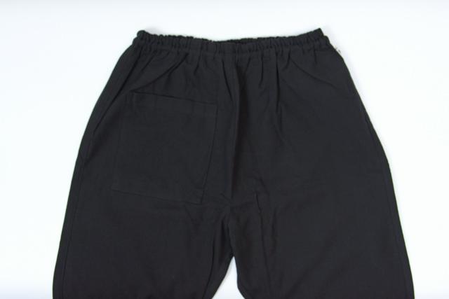 うなぎの寝床 もんぺ 久留米絣 無地 薄手 ブラック 3サイズ メンズ レディース 日本製 パンツ お洒落 おしゃれ