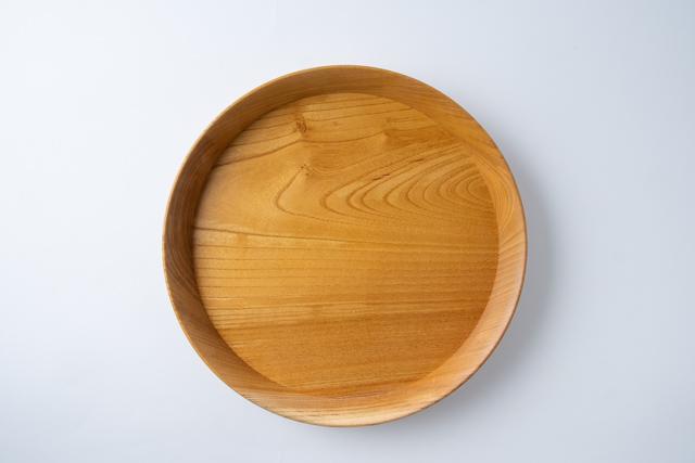 福井賢治 woodpecker ケヤキの丸盆 作家物 木製 日本製 国産