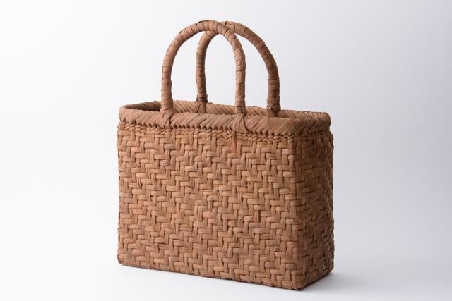 山葡萄 かごバッグ 国産 日本製 網代編み 手提げ大1 籠バッグ 手編み