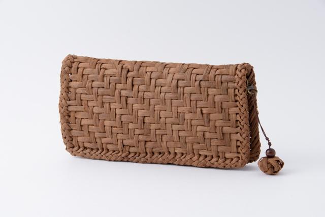 山葡萄の長財布 国産 日本製 網代編み 手編み