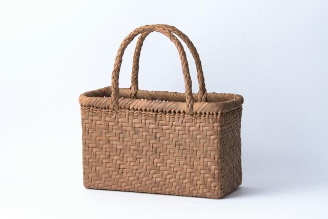 山葡萄かごバッグ 手提げ 網代編み 小02 内布、内ポケット付 国産 日本製 籠バッグ