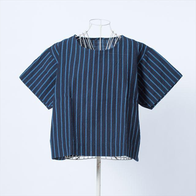 ヤンマ産業 会津木綿Tシャツ 大名縞
