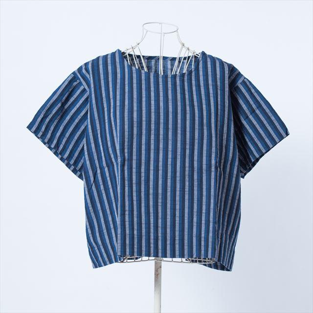 ヤンマ産業 会津木綿Tシャツ 三色棒縞