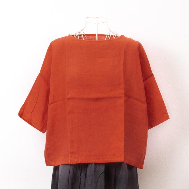 ヤンマ産業 ニュースクエアシャツ 赤 リネン 麻 YAMMA NSQ-SH-RD