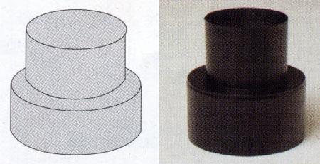 薪ストーブ煙突用異径アダプター201-1