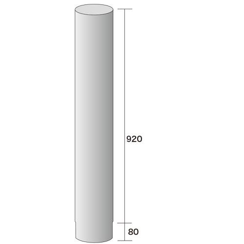 薪ストーブ用煙突φ152直煙筒920mm307-1