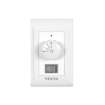 シーリングファン・VENTO(ヴェント)壁付コントローラ 3速ダイヤルスイッチ(ファン・照明用)(VC-WA31N)【代引不可】