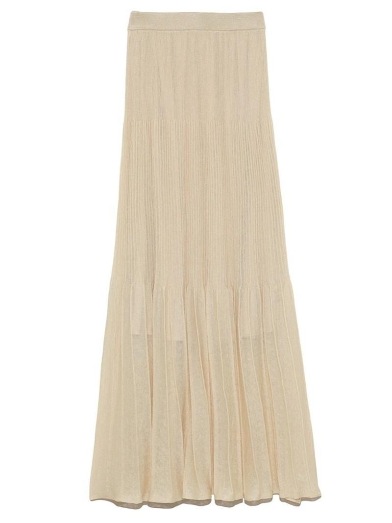 [Rakuten Fashion]LI/Nシアーニットスカート FRAY I.D フレイ アイディー スカート ロングスカート ベージュ【送料無料】