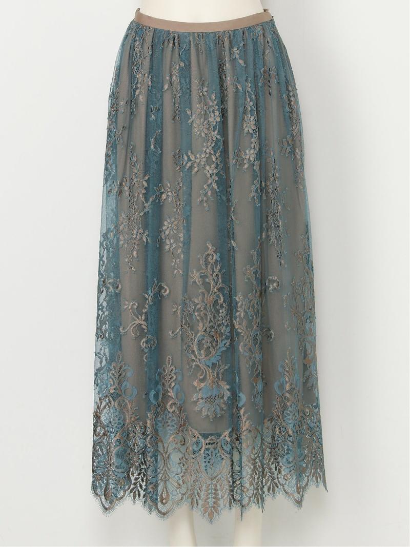 [Rakuten Fashion]【SALE/45%OFF】ラッセルレーススカート FRAY I.D フレイ アイディー スカート スカートその他 ブルー ブラウン グレー【RBA_E】【送料無料】