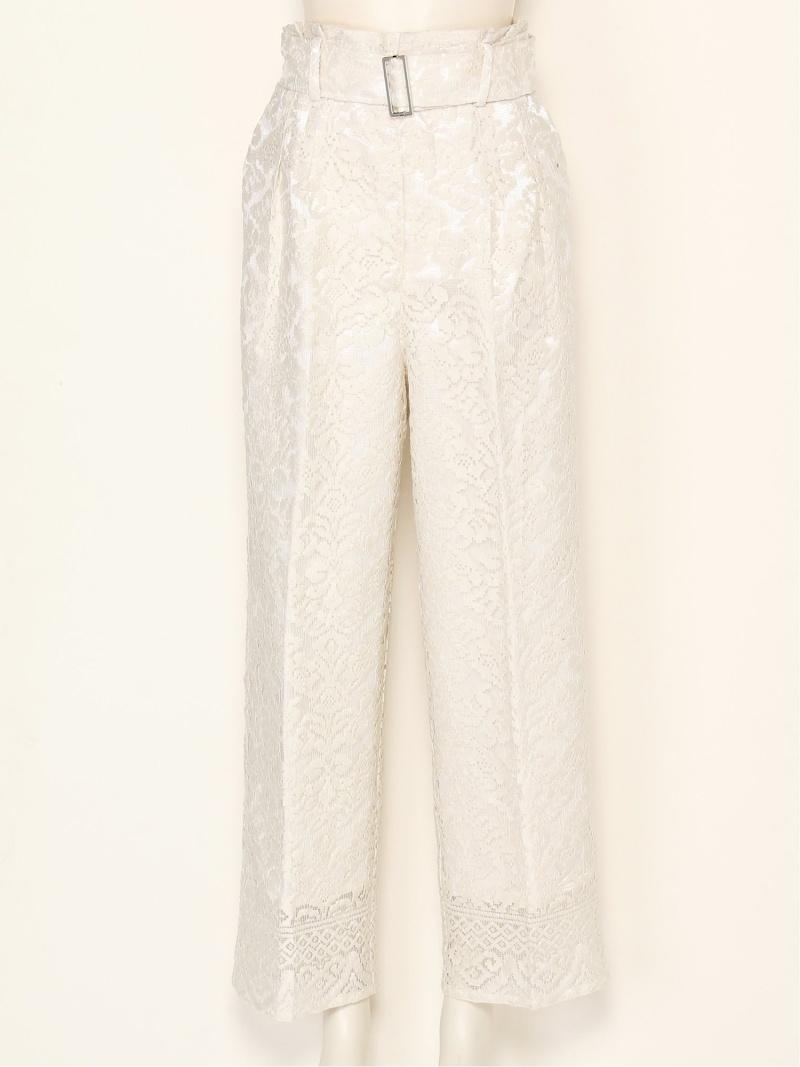 [Rakuten Fashion]【SALE/40%OFF】レースベルテッドタックパンツ FRAY I.D フレイ アイディー パンツ/ジーンズ パンツその他 ホワイト【RBA_E】【送料無料】