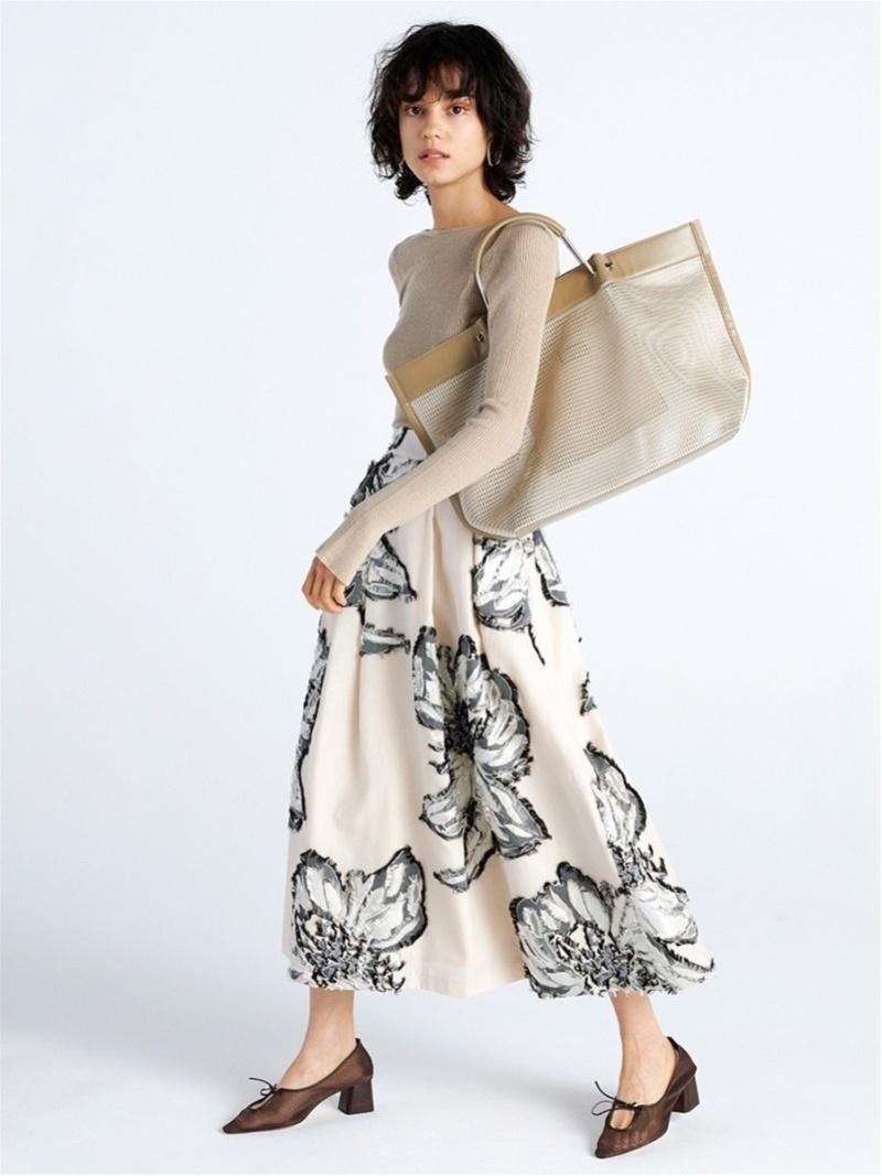 [Rakuten Fashion]【SALE/50%OFF】フラワージャガードSK FRAY I.D フレイ アイディー スカート スカートその他 ベージュ ネイビー イエロー【RBA_E】【送料無料】