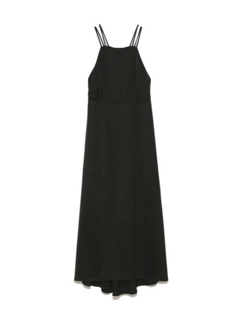 [Rakuten Fashion]ホルターネックサテンドレス FRAY I.D フレイ アイディー ワンピース ロングワンピース/マキシワンピース ブラック ブラウン【先行予約】*【送料無料】