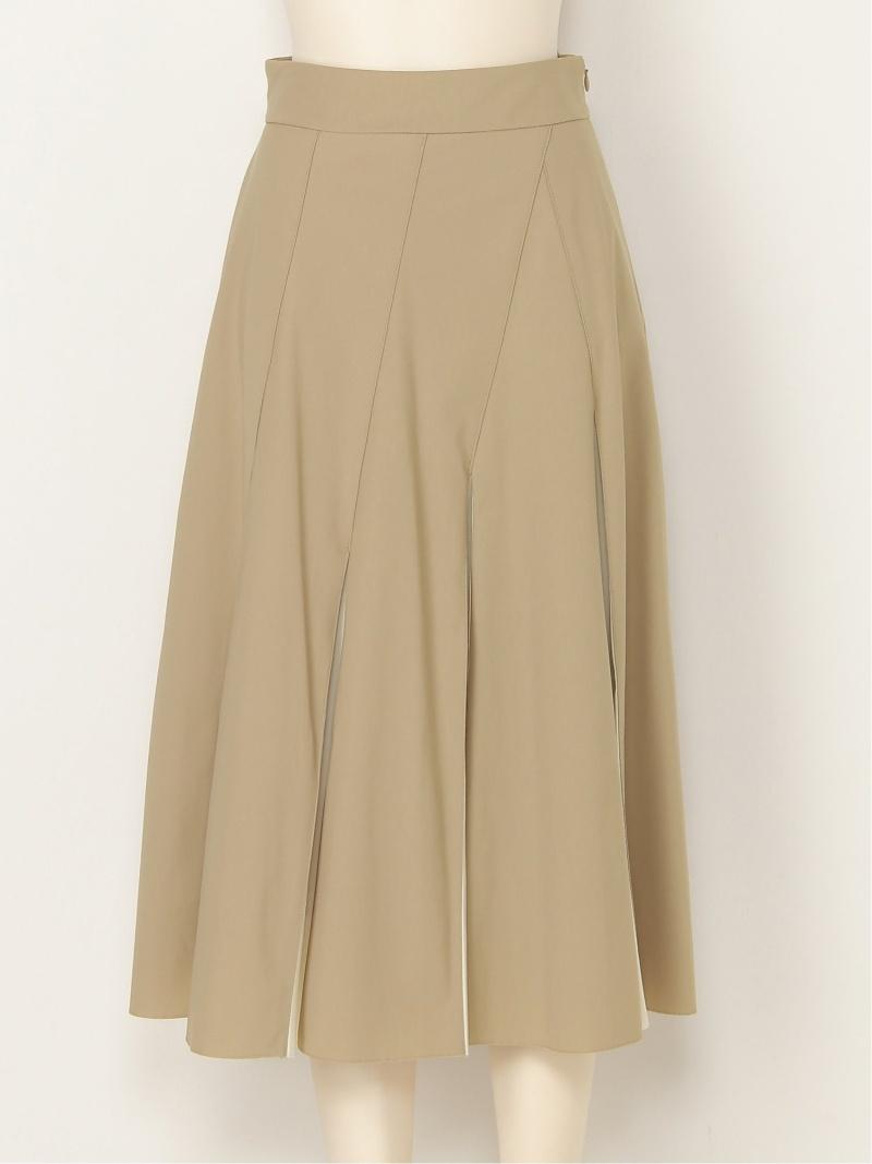 FRAY I.D レディース 公式ストア スカート フレイ アイディー Rakuten Fashion SALE ベージュ 送料無料 送料無料カード決済可能 フレアスカート 45%OFF RBA_E ブラック グリーン バイカラープリーツフレアスカート