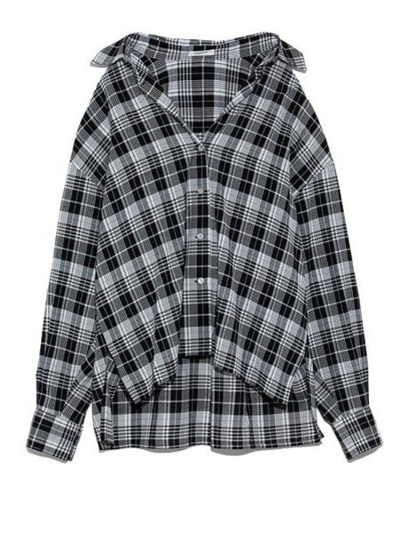 [Rakuten Fashion]【SALE/45%OFF】チェックシャツ FRAY I.D フレイ アイディー シャツ/ブラウス シャツ/ブラウスその他 ブラック ピンク ホワイト【RBA_E】【送料無料】