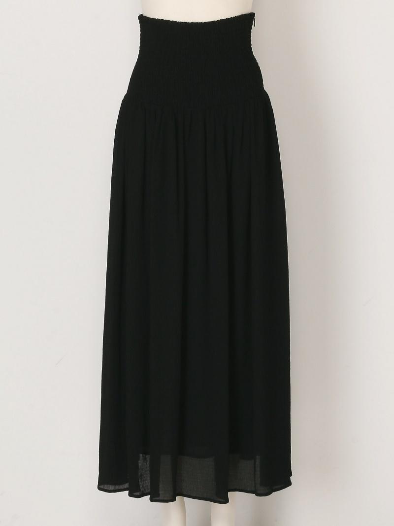 FRAY I.D レディース スカート フレイ アイディー Rakuten Fashion ロングスカート ホワイト RBA_E 45%OFF 新登場 限定タイムセール 送料無料 ブラック シャーリングレースアップSK SALE