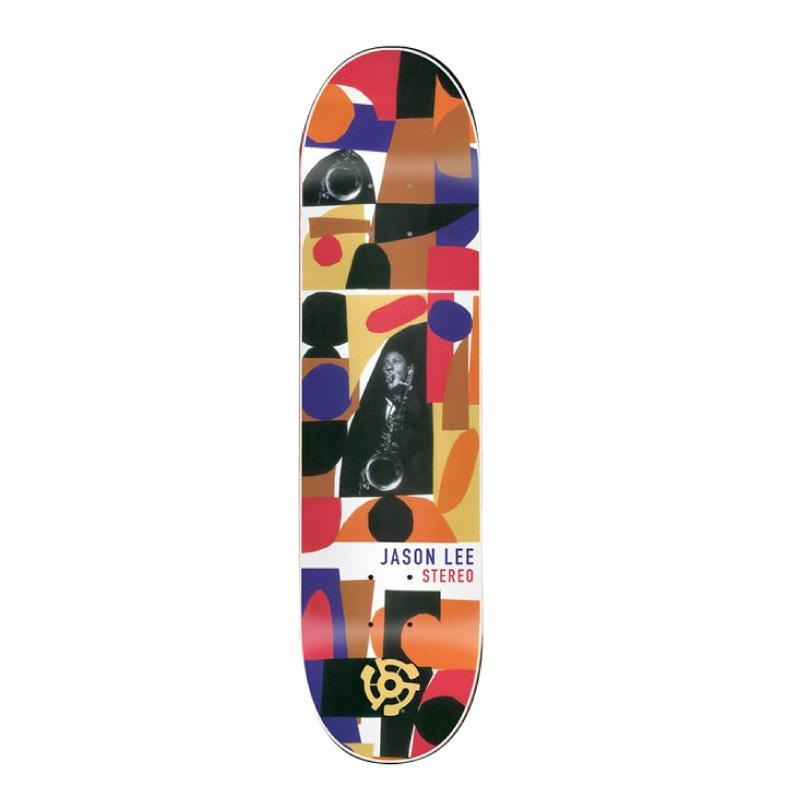 数量限定【最大1200円クーポン】配布中!!STEREO skateboards スケートボード JASON LEE HORNS Skateboard Deck 7.8インチ デッキ スケボー